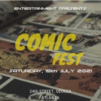 Comic posters Quadrado (1:1) template