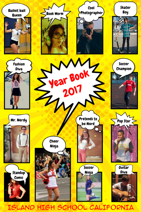 Comical Yearbook Page Template