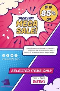 Comics Poster template