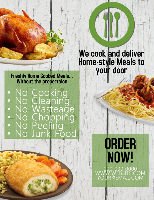 Comida / Food / Meal Flyer Template