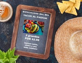 comida mexicana restaurante Volante (Carta US) template
