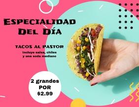 comida mexicana restaurante Volantino (US Letter) template