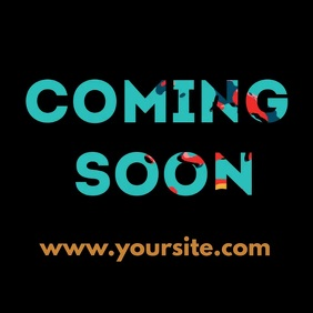 Coming Soon animated mask video ad