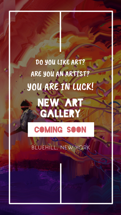 Coming Soon Art Gallery Announcement Instagram Story