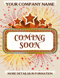 coming soon Flyer (US Letter) template