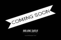 Coming Soon Poster template