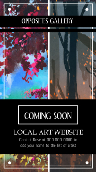 Coming Soon Gallery Announcement Instagram Story