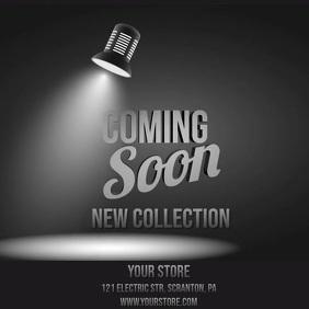 Coming soon lightbulb video Instagram Post template