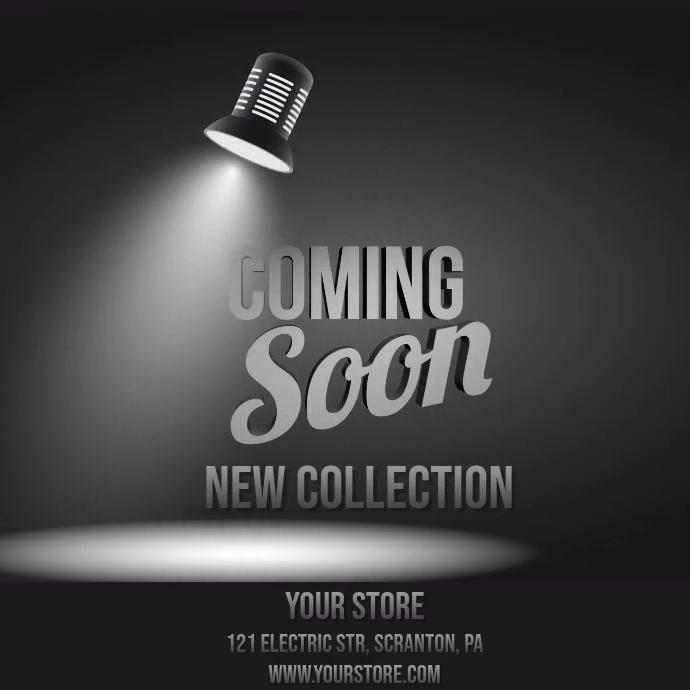 Coming soon lightbulb video Instagram-opslag template