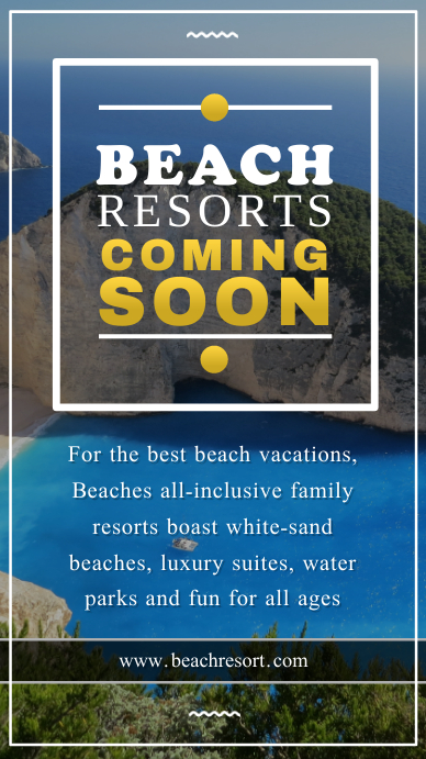 Coming Soon Resort Announcement Instagram Story Indaba yaku-Instagram template