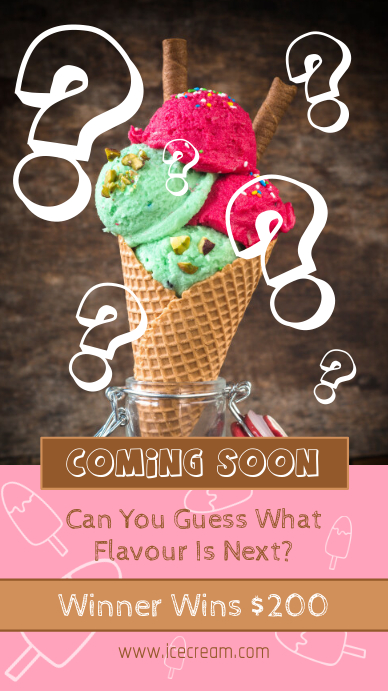 Coming Soon Restaurant Flavor Announcement Instagram Story