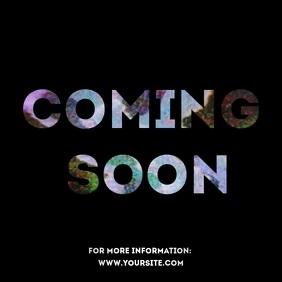 Coming soon static TV video ad Kvadrat (1:1) template