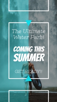 Coming Soon Water Park Announcement Instagram Story