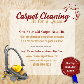 Commercial Carpet Cleaning Instagram Post Template
