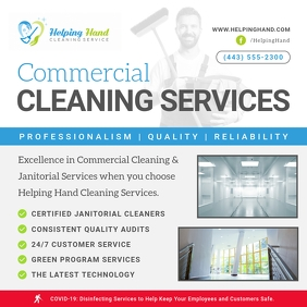 Commercial Cleaning Service Ad Instagram