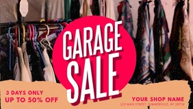 Commercial Garage Sale Banner Video