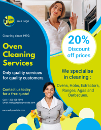 Commercial Oven Cleaner Service Advertisement Flyer (US Letter) template