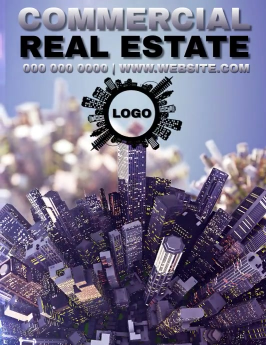 COMMERCIAL REAL ESTATE ADVERT Flyer (format US Letter) template