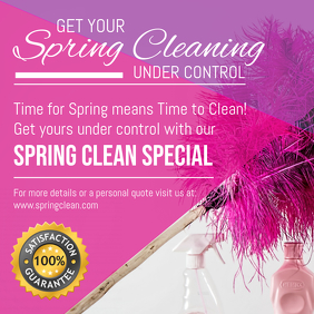 Commercial Spring Cleaning Service Social Media Advert Templ