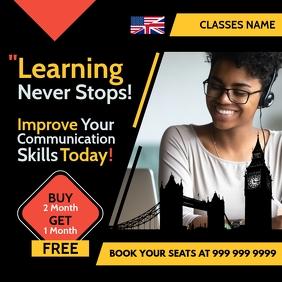 Communication Online Classes Template Instagram Post