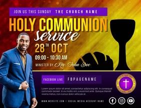 communion Flyer (US Letter) template