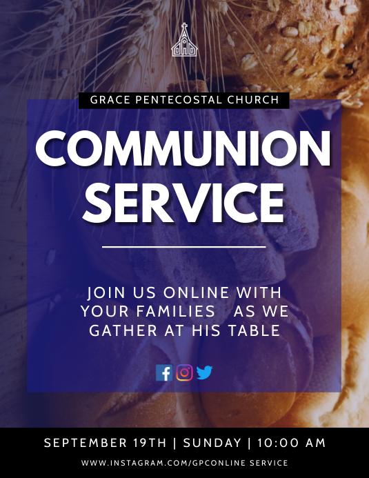 Communion Service Flyer (US Letter) template