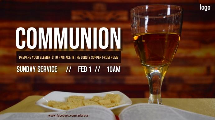 Communion Service Digitale display (16:9) template