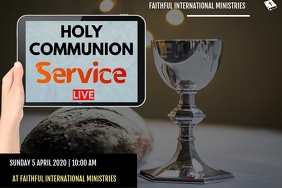 communion service flyer