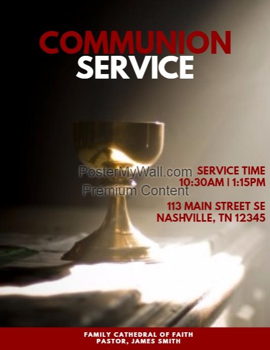 communion service template