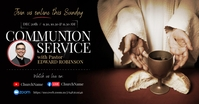 Communion Service Invitation Facebook Image Obraz udostępniany na Facebooku template