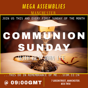 Communion Service Template