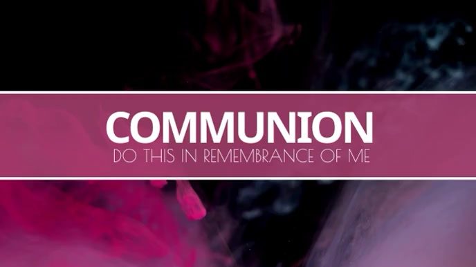 Communion Service video Digitale display (16:9) template
