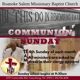 Communion Sunday Baptist