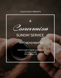 Communion Sunday Event Flyer Template