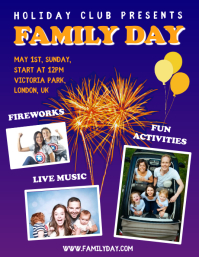 Community and Family Day Event Flyer Template