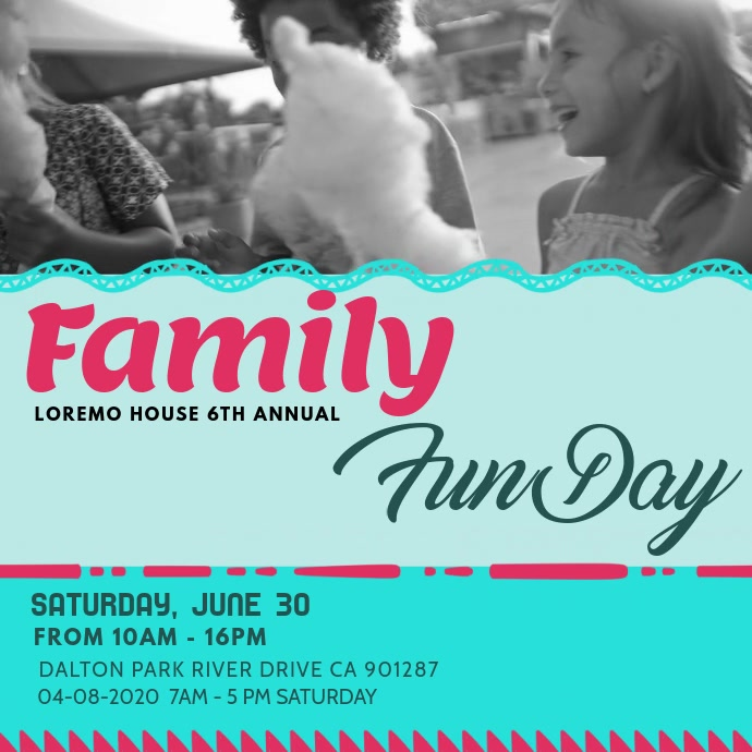 Community and Family Event Video Template