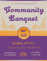 Community Banquet Flyer Template Ulotka (US Letter)