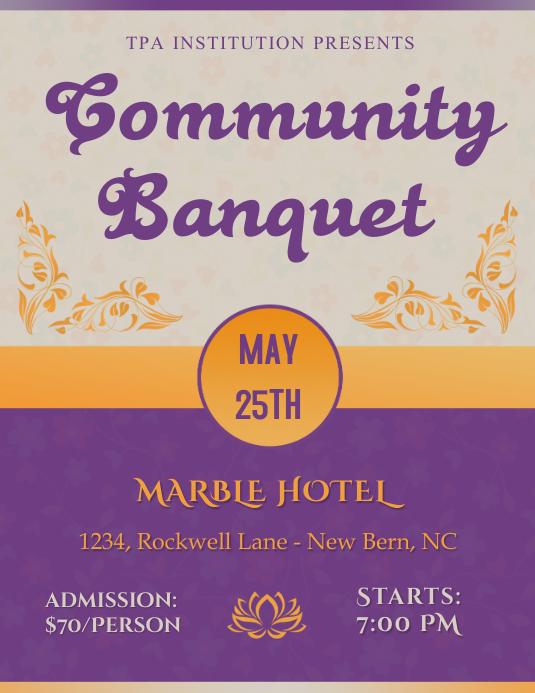 Community Banquet Flyer Template