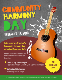 Community Day Country Concert Event Poster