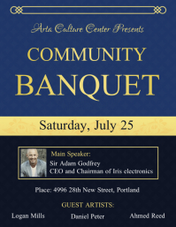 Community Event Banquet Flyer Template