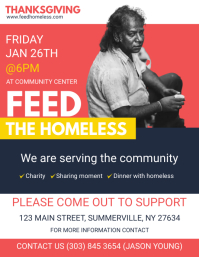 Community Feed the Homeless Flyer