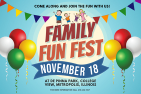 Community Festival Family Event Invitation Poster Template