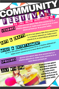 Customizable Design Templates for Community Festival | PosterMyWall