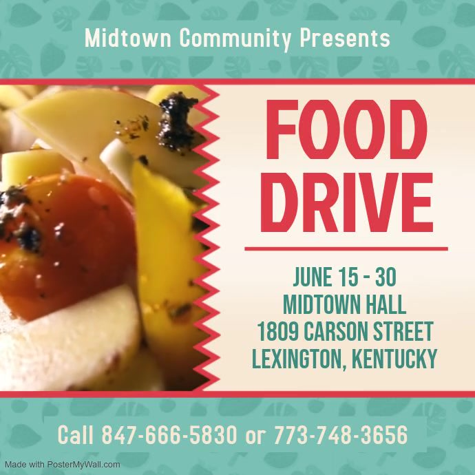 Community Food Drive Video Template