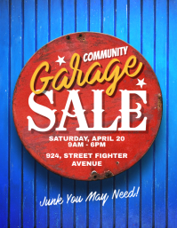 Community Garage Sale Flyer Poster