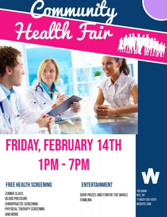 Community Health Fair template | PosterMyWall