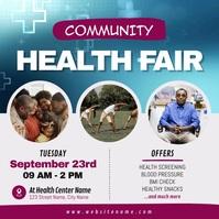 Community Health Fair Square Video สี่เหลี่ยมจัตุรัส (1:1) template