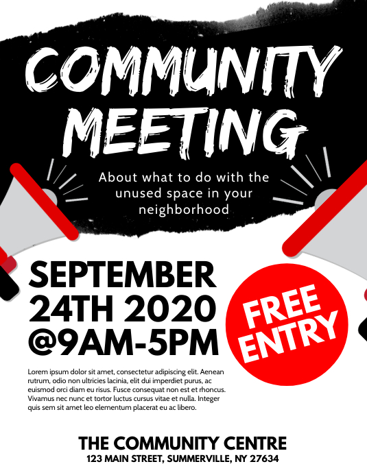 Community Meeting Flyer Folder (US Letter) template