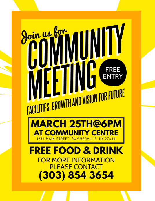 community meeting flyer template koni polycode co