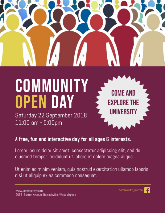 Community Open Day Event Poster Template